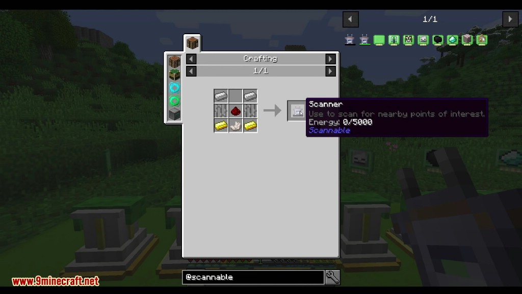 Scannable Mod Crafting Recipes 1