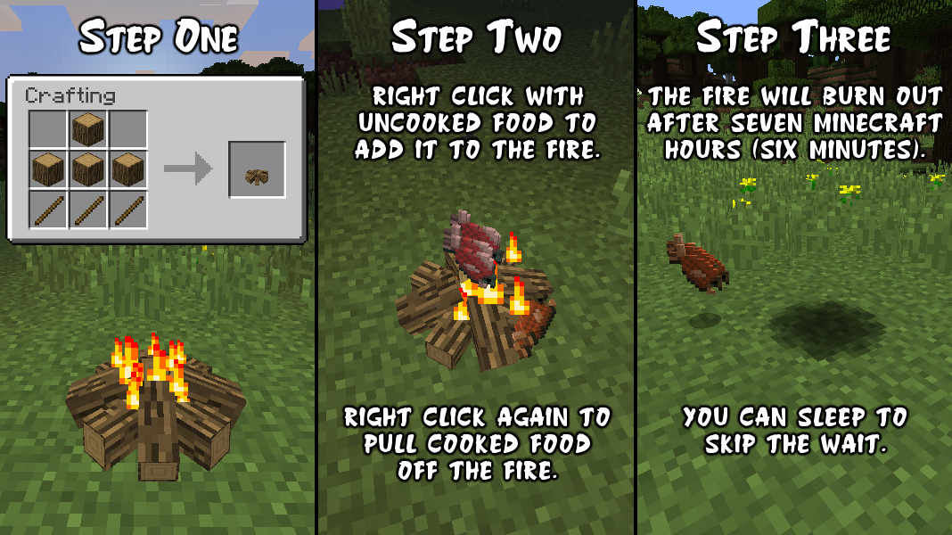 Simple Camp Fire Mod How to use