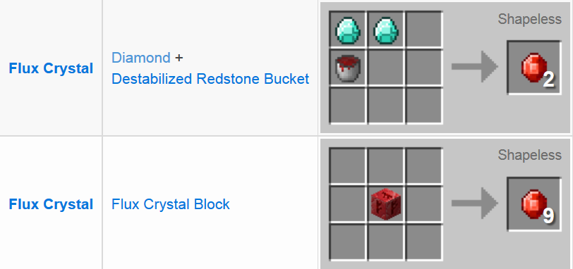 Redstone Arsenal Mod Crafting Recipes 12