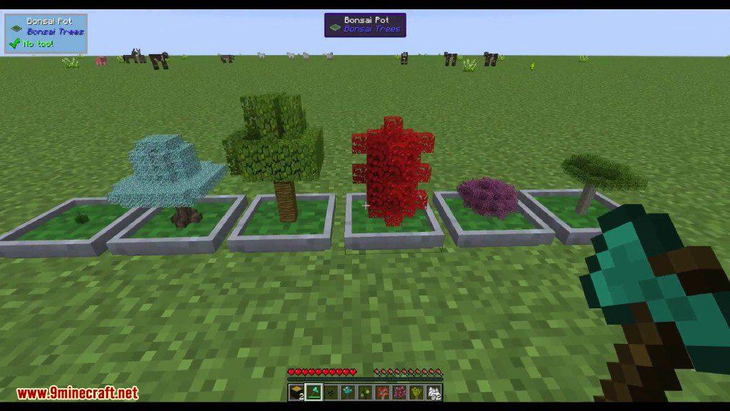 Bonsai Trees Mod 1 15 2 1 14 4 Small Trees Tiny Trees 9minecraft Net