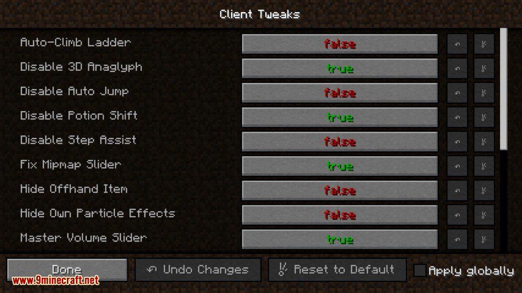 Client Tweaks Mod Screenshots 2