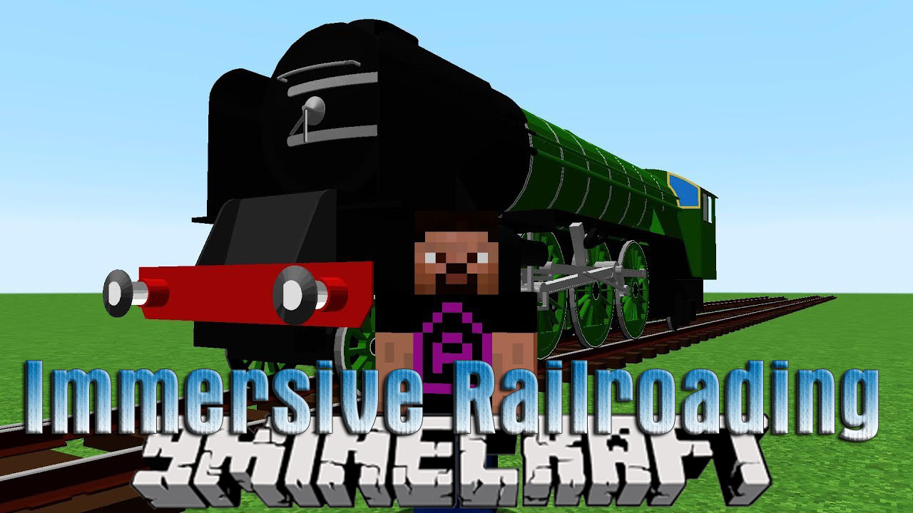 Immersive Railroading Mod 1.12.2/1.12 (New Transport System)