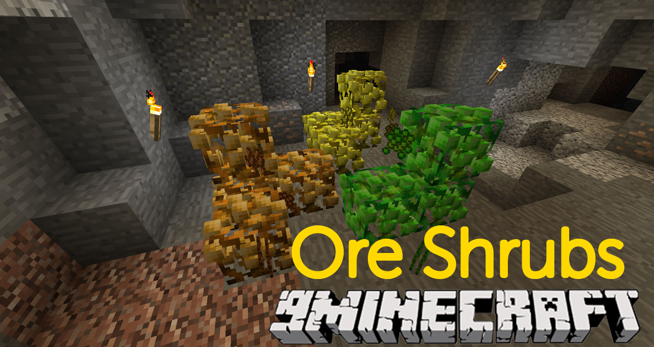 Minecraft Ore Shrubs Mod 1.12.2/1.11.2 (Grow Experience and Metals on Bushes) Download