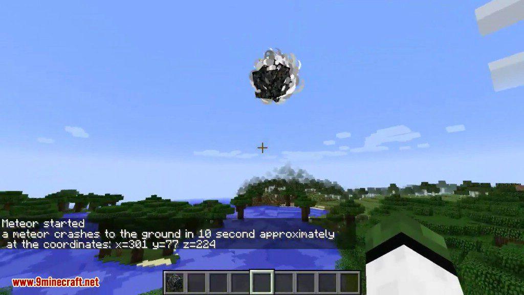 JJ Meteor Mod 1.12.2/1.10.2 (Destroy Your world) - 9Minecraft.Net
