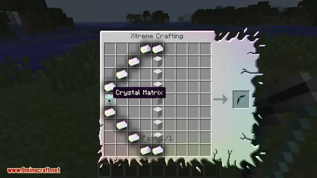 Minecraft crafting recipes