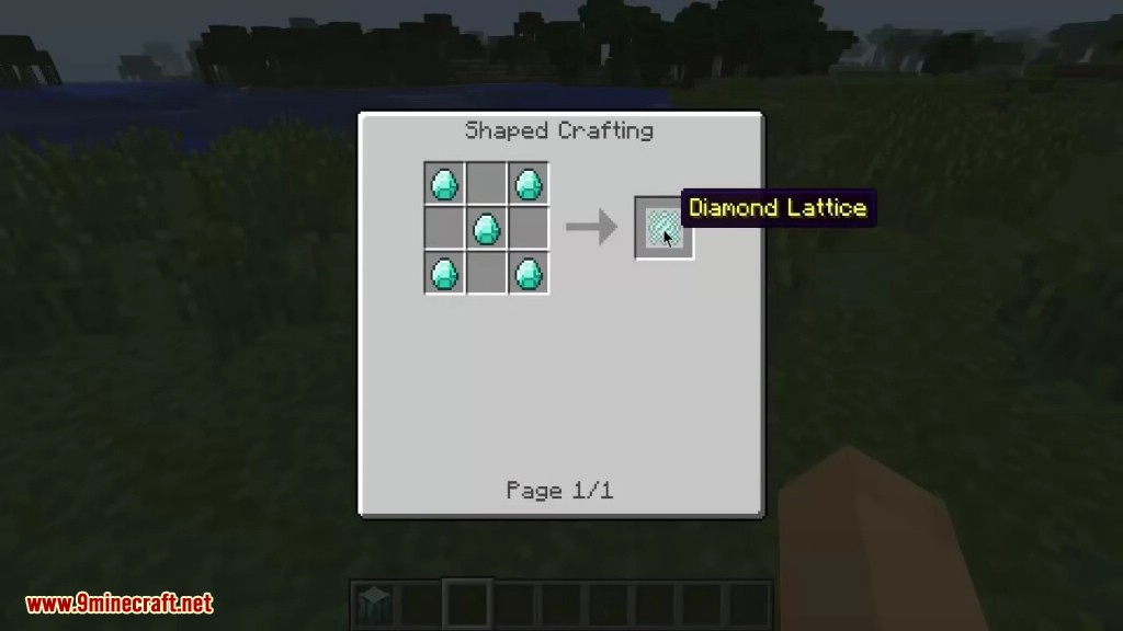 All of the crafting recipes for minecraft