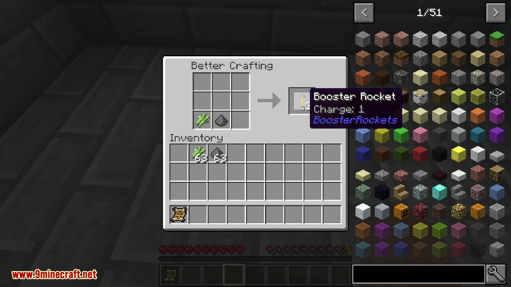 Booster Rockets Mod Crafting Recipes 1