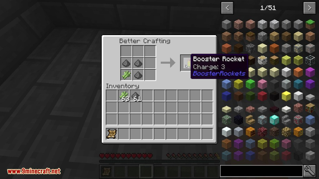 Booster Rockets Mod Crafting Recipes 2