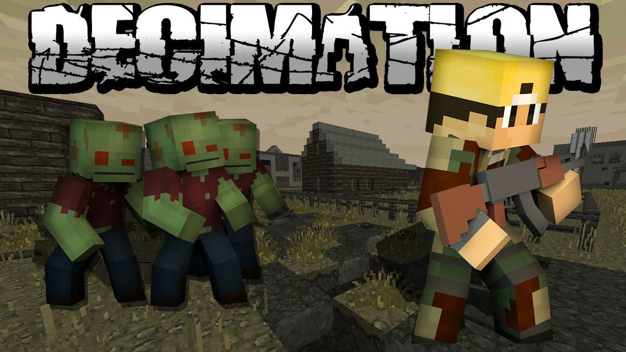 Decimation Mod 10.10.100 (Minecraft Zombie Apocalypse) - 10Minecraft.Net