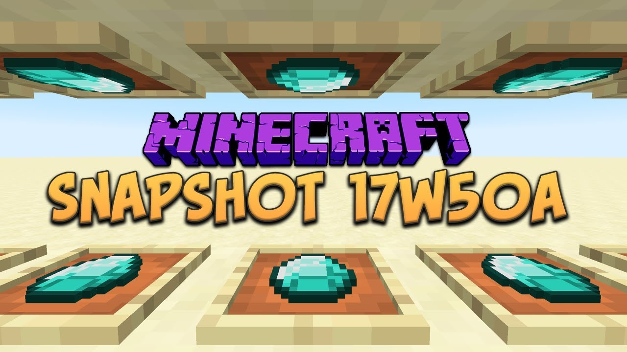 Minecraft 1.13 Snapshot 17w50a (Item Frames on All Sides ...