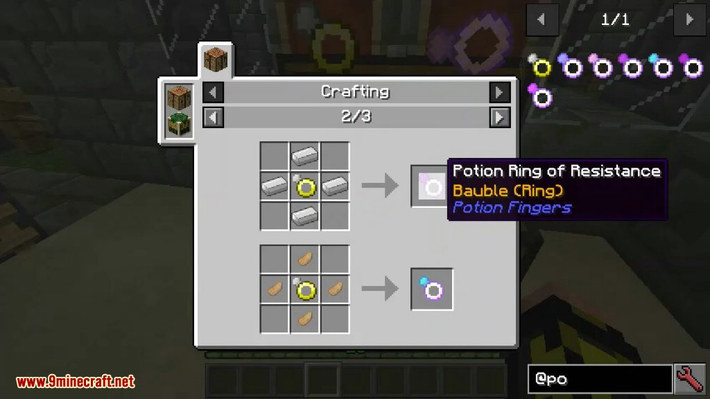 Potion Fingers Mod Crafting Recipes 4