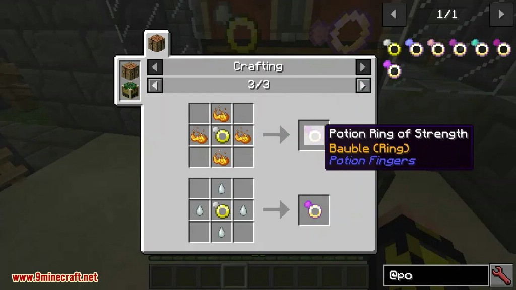 Potion Fingers Mod Crafting Recipes 6