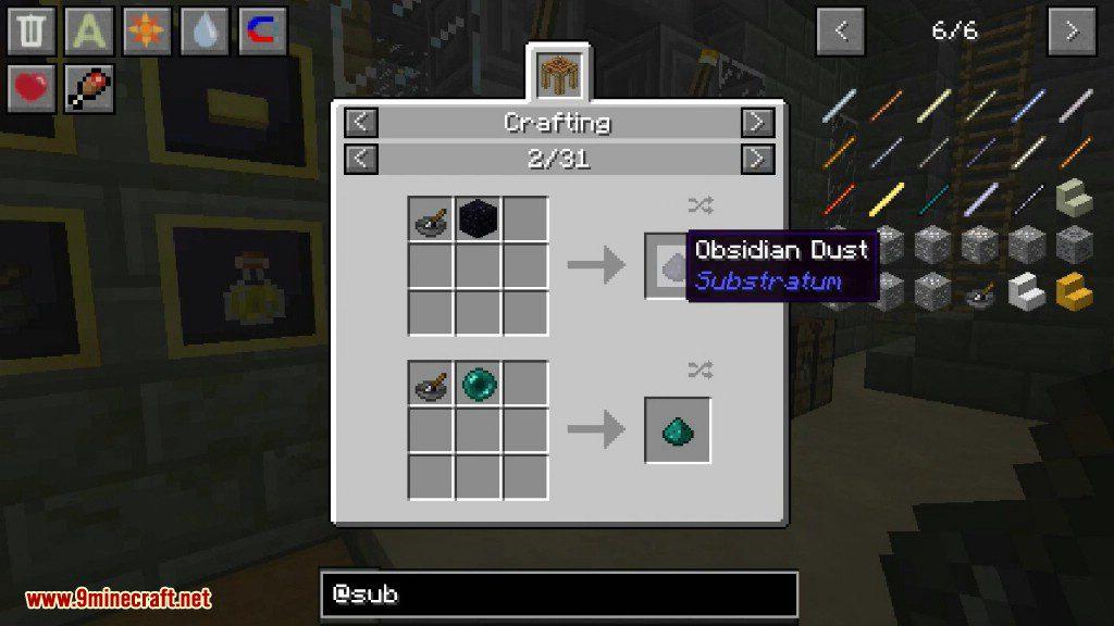 Substratum Mod Crafting Recipes 3