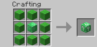 Emerald Lucky Block Mod Crafting Recipes 2