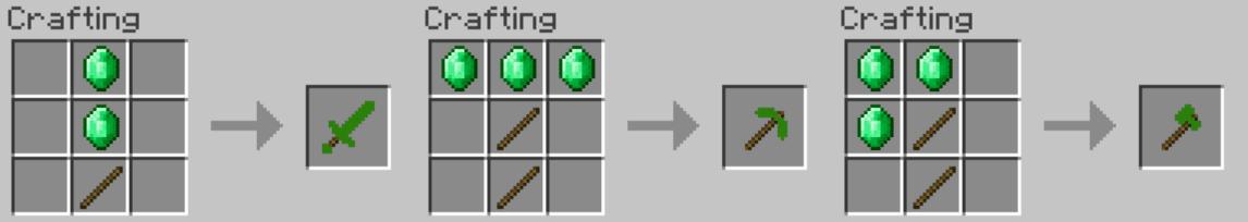 Emerald Tools Mod Crafting Recipes 1