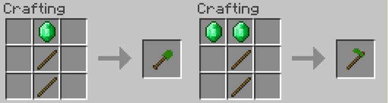 Emerald Tools Mod Crafting Recipes 2