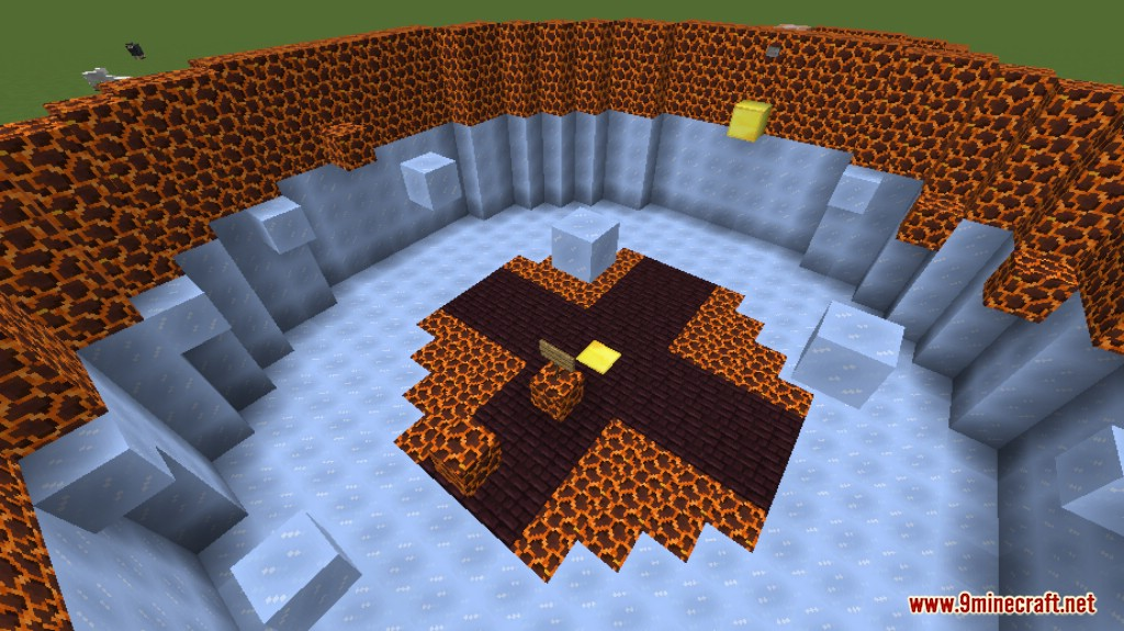 Lava and Ice Parkour Map Screenshots 8