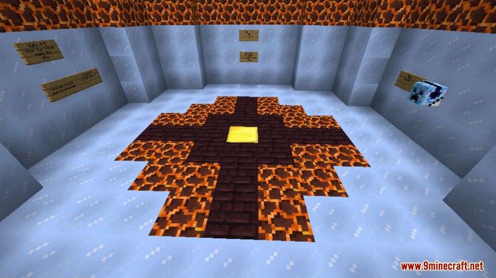 Lava and Ice Parkour Map Screenshots 9