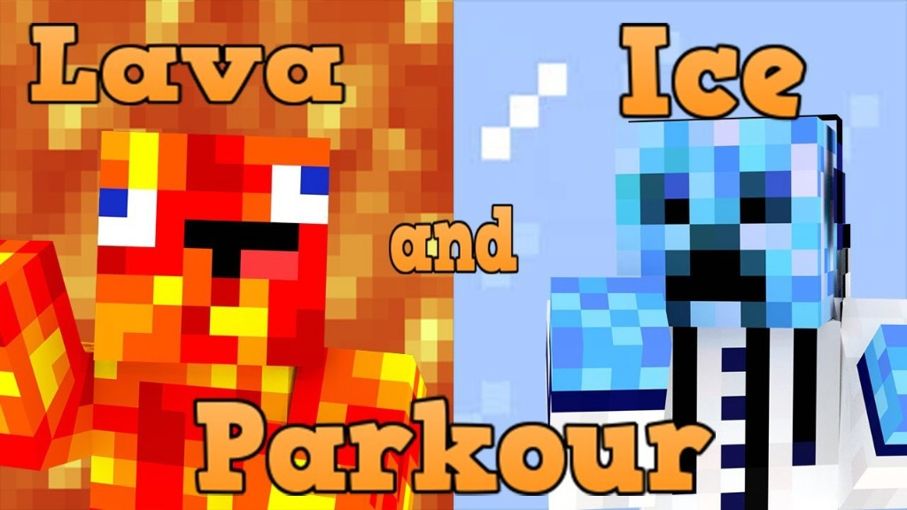 Lava and Ice Parkour Map Thumbnail