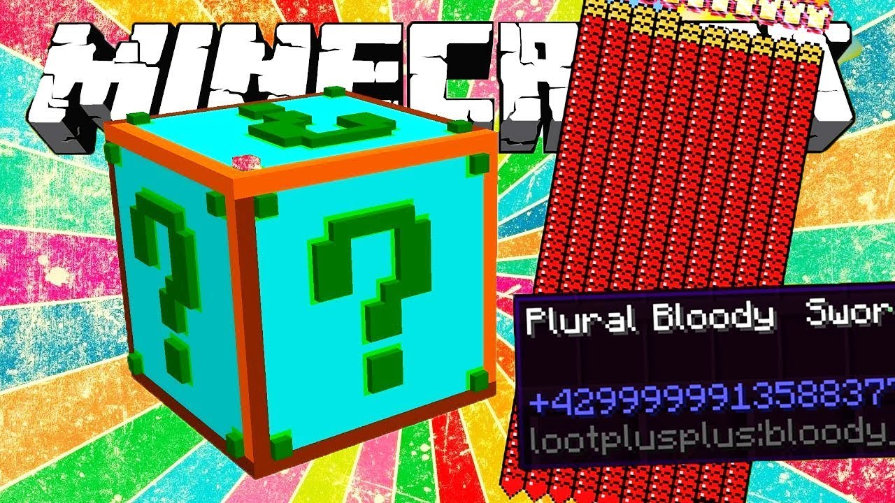 Lucky Block Plural Mod 1 8 (Get The Ultimate Sword