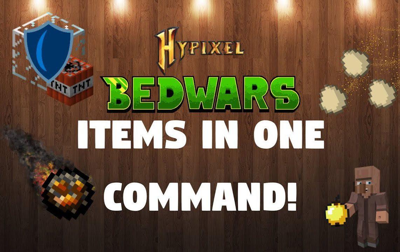 Bedwars Items and Generators Command Block