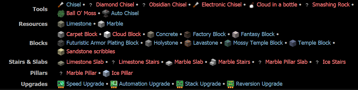 Chisel Mod Features 1