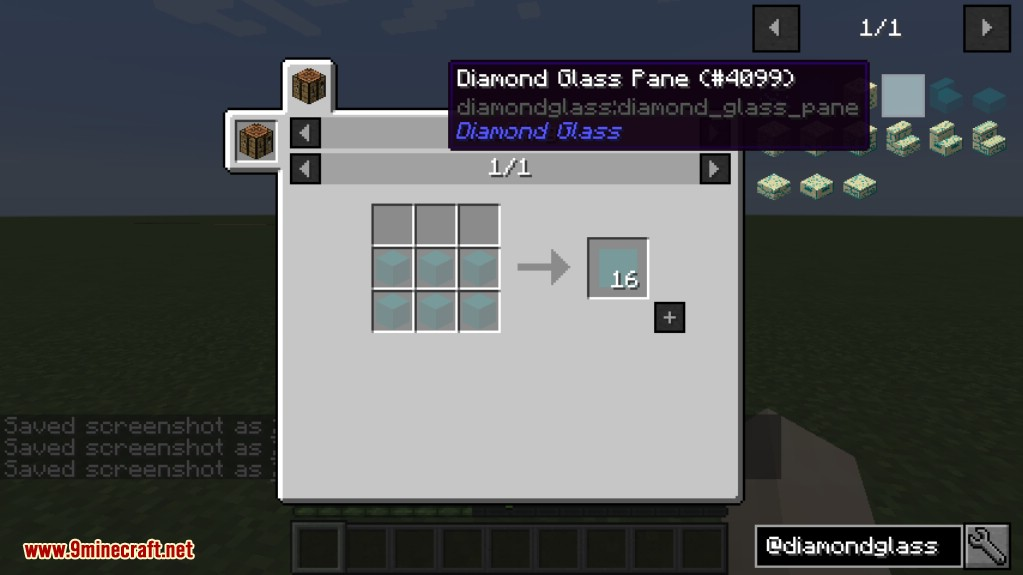 Diamond Glass Mod Crafting Recipes 12