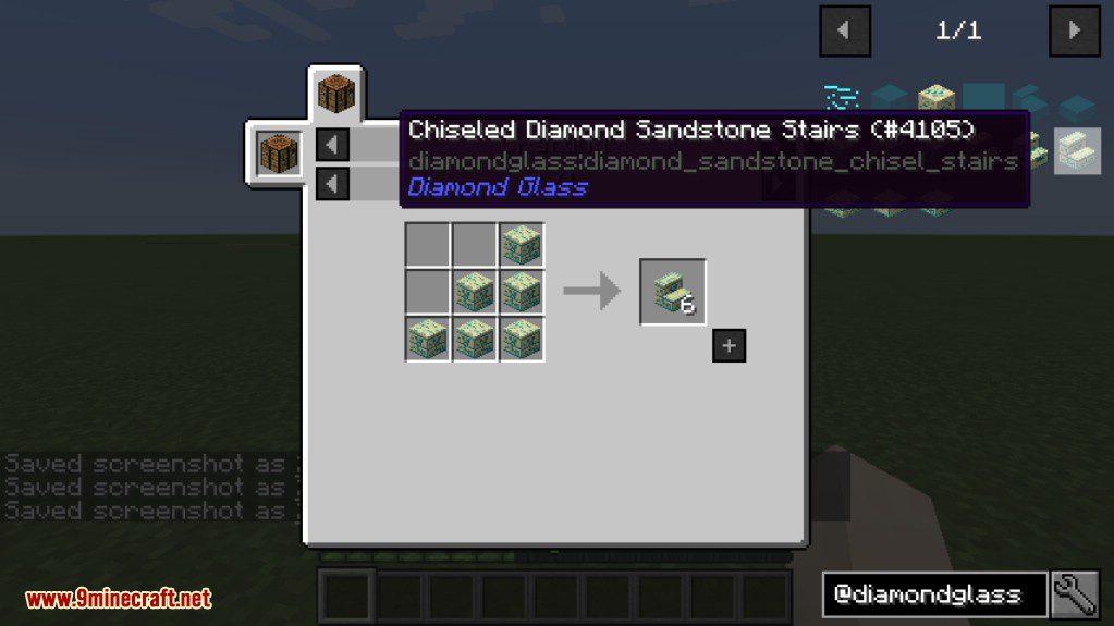 Diamond Glass Mod Crafting Recipes 14