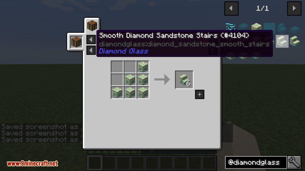 Diamond Glass Mod Crafting Recipes 2