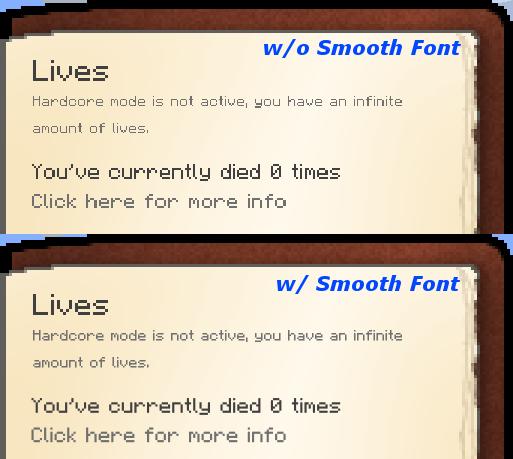Smooth Font Mod Screenshots 5