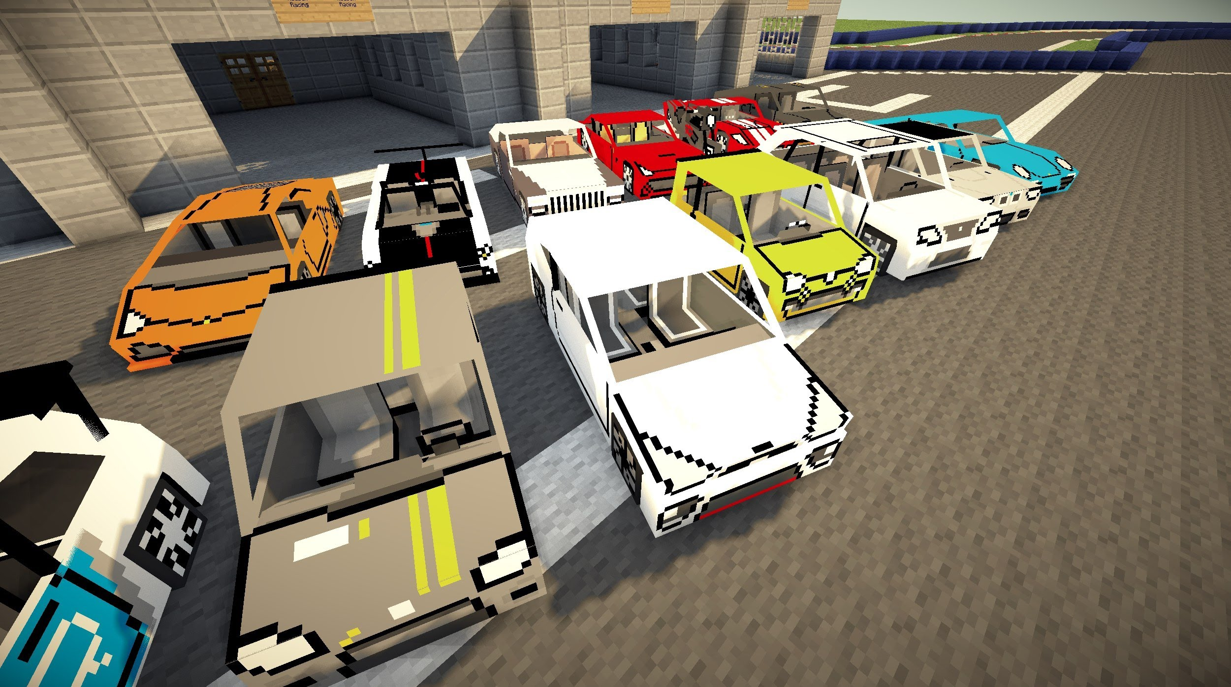 Fex\'s Vehicle Pack 1.12.2 (New Vehicles and Models) - 9Minecraft.Net