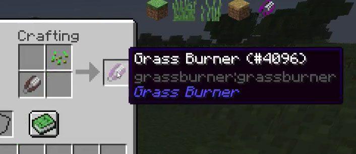 Grass Burner Mod Crafting Recipes 2