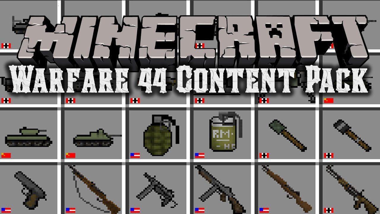 Warfare 44 Content Pack 1 7 10 (World War II, Cold War) - 9Minecraft Net
