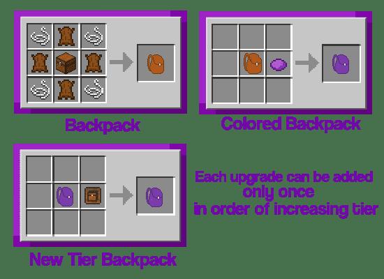 Improved Backpacks Mod Crafting Recipes 3