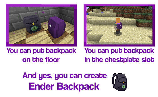 Improved Backpacks Mod Crafting Recipes 4