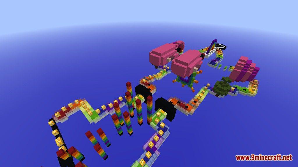 Rainbow World Lucky Block Race Map Screenshots 1