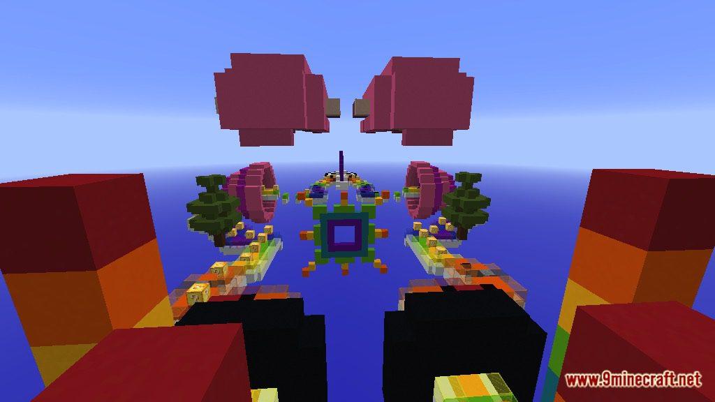 Rainbow World Lucky Block Race Map Screenshots 2