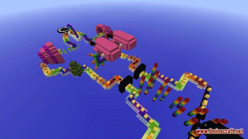 Rainbow World Lucky Block Race Map Screenshots 9