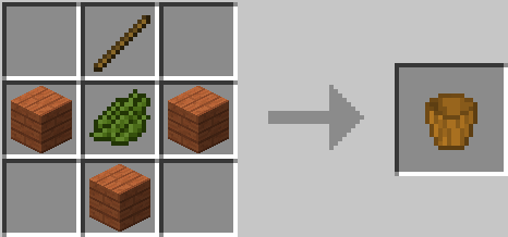 Wooden Buckets Mod Crafting Recipes 1