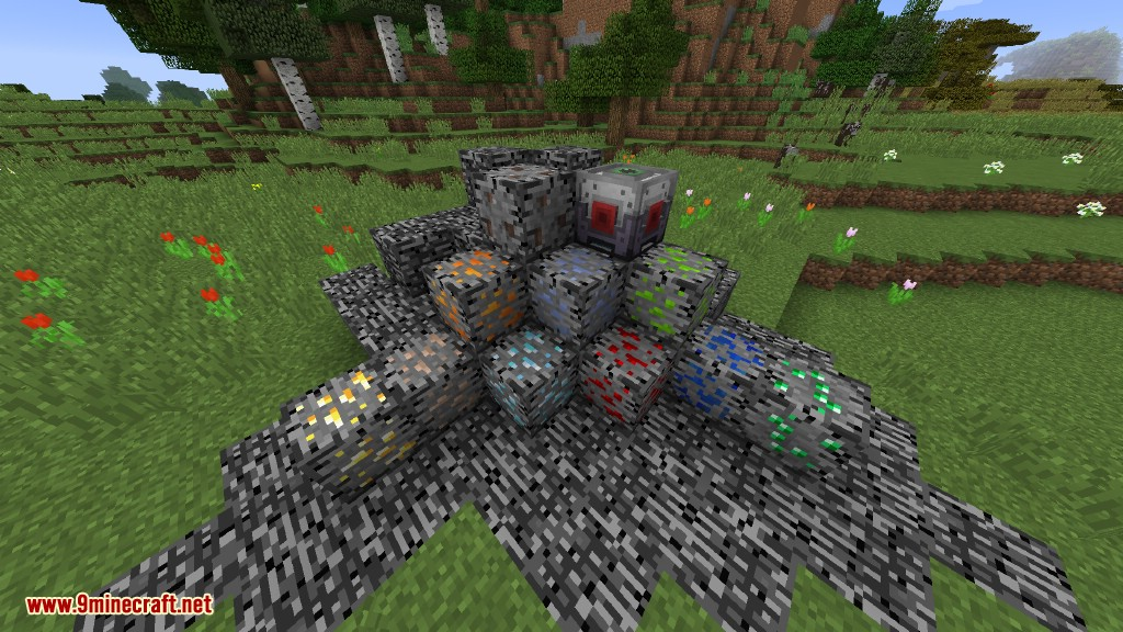Bedrock Ores Mod 1.12.2/1.11.2 (Ore Clusters Embedded in ...