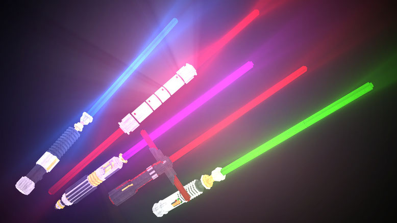 Glowing 3D Lightsabers Resource Pack 1 13 2/1 12 2 - 9Minecraft Net