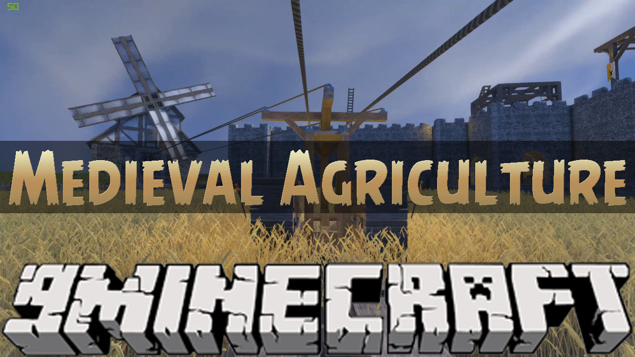 Medieval Agriculture Mod 1 12 2 Water Wheels Windmills