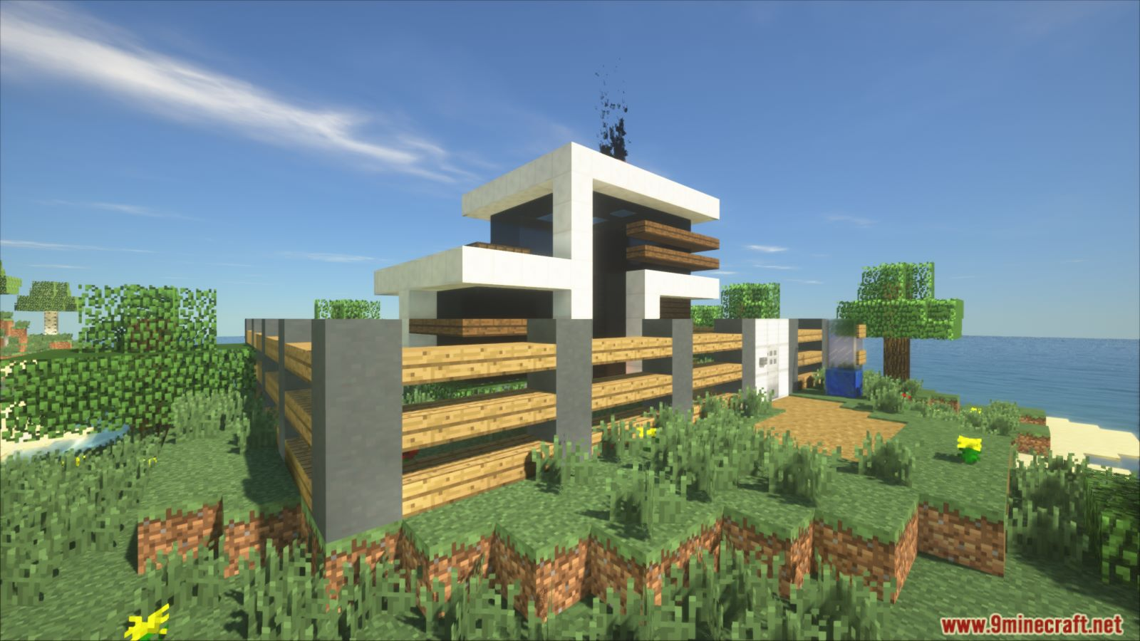 Animated Self Building Redstone House Map 112.1120.12 for Minecraft