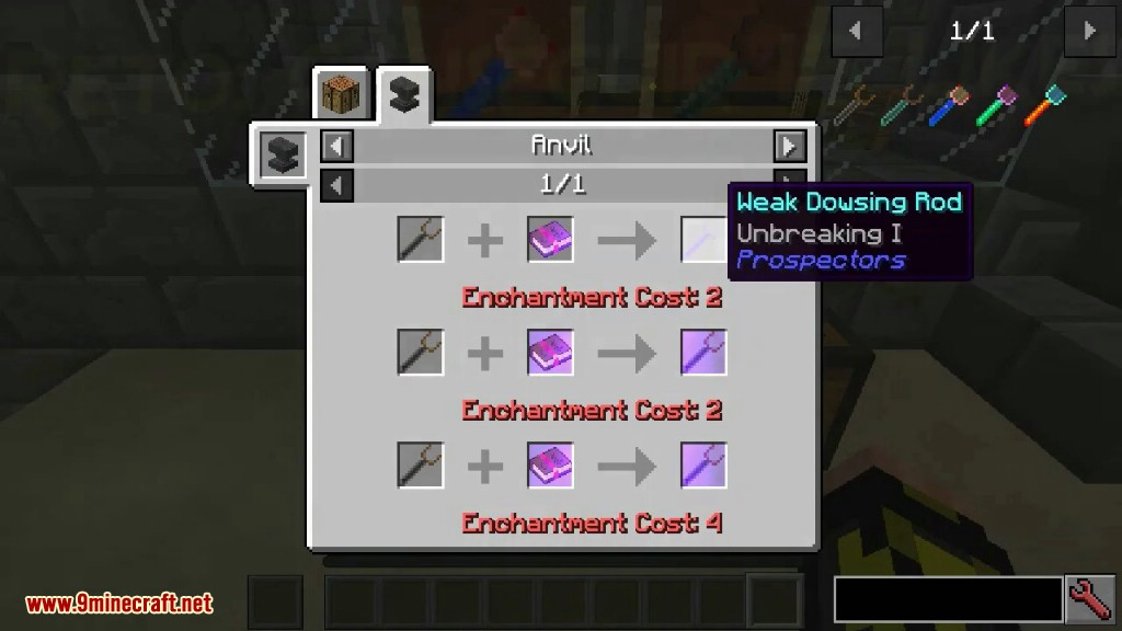 Ore Prospectors Mod Crafting Recipes 2