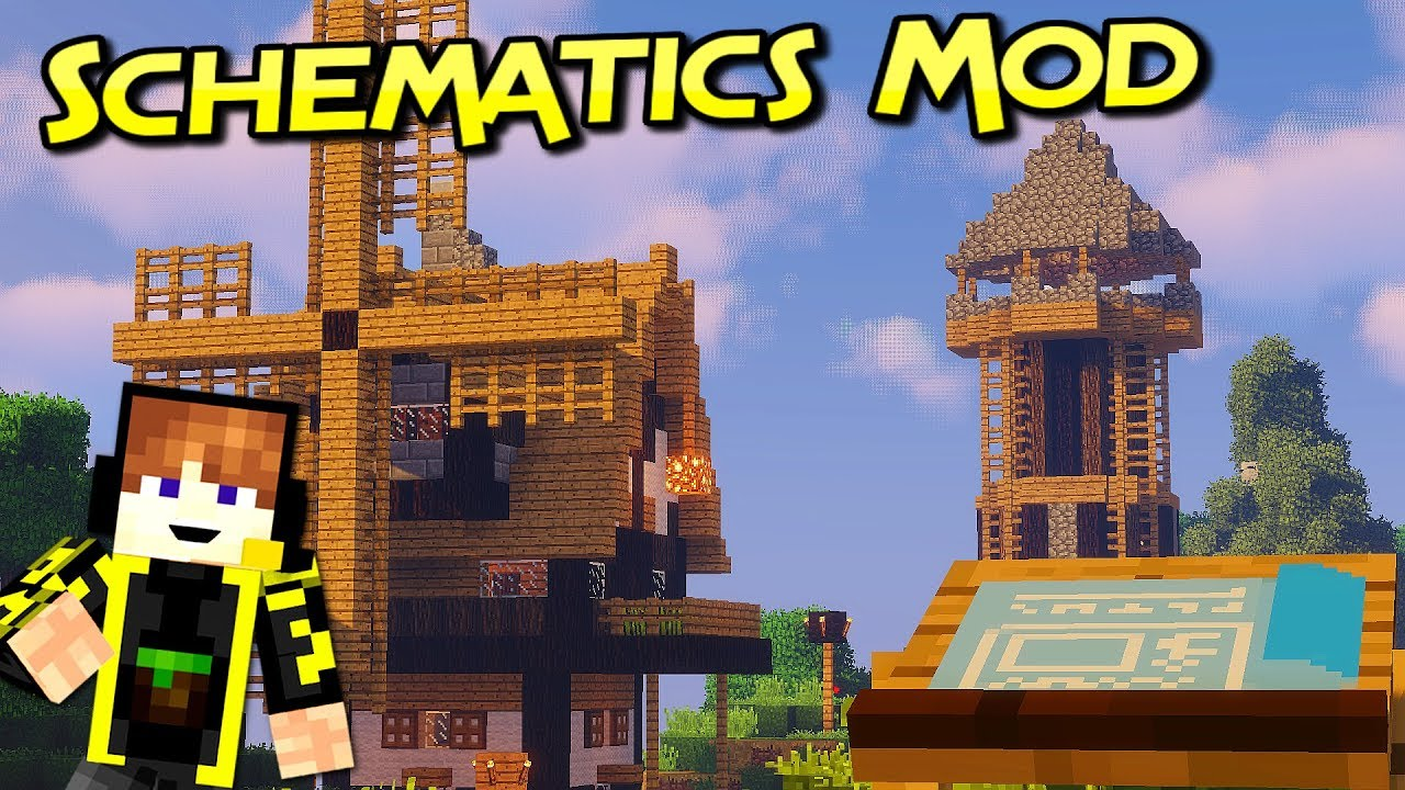 Schematics Mod 1.12.2 (Using Your Favorite Structures in Adventures on