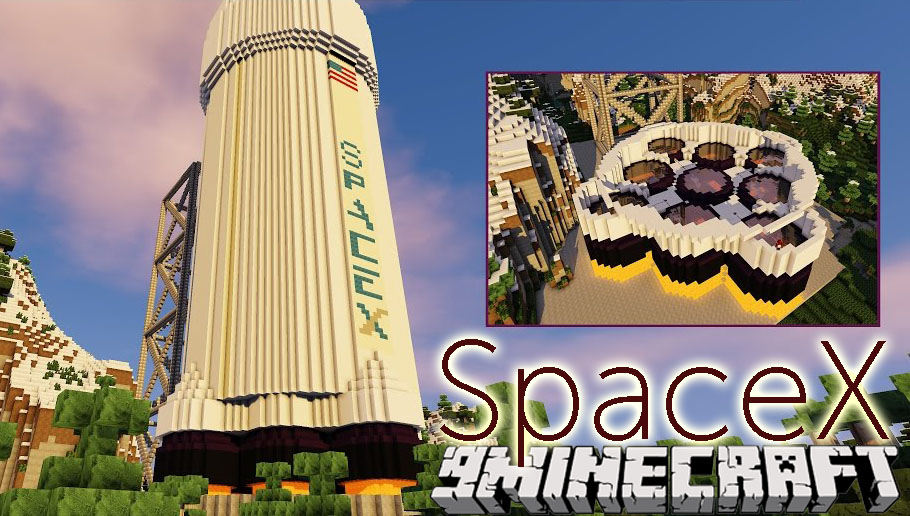 SpaceX Mod 1 12 2/1 11 2 (Falcon 9 in Minecraft
