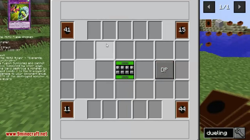 Yu-Gi-Oh Dueling Mod 1 12 2 (It's Time to Duel in Minecraft