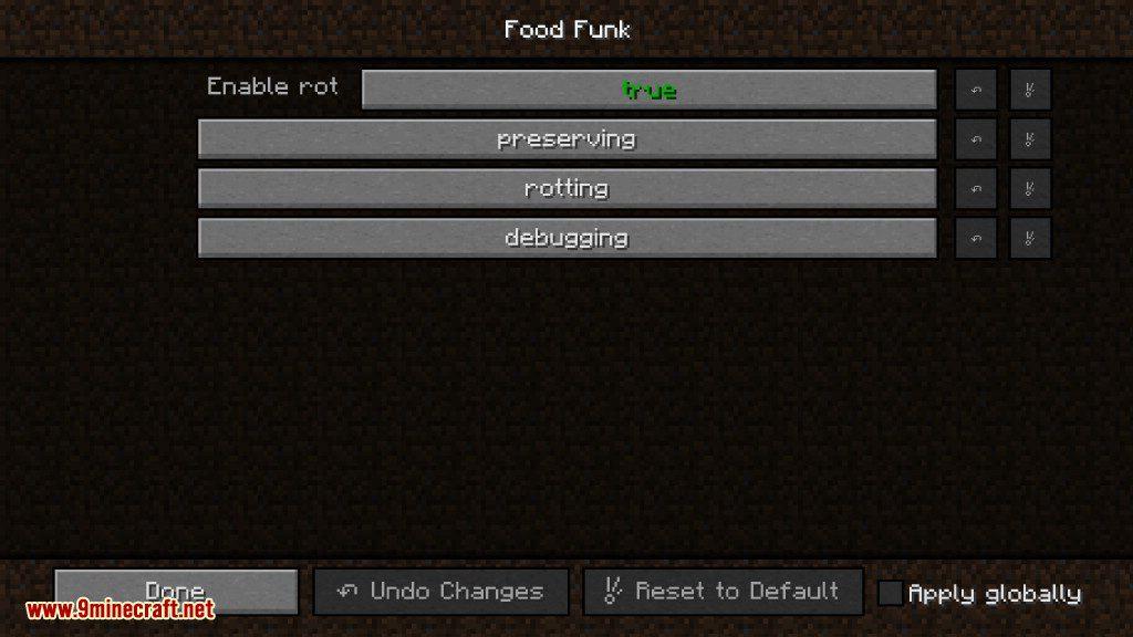 Food Funk Mod Configs 1