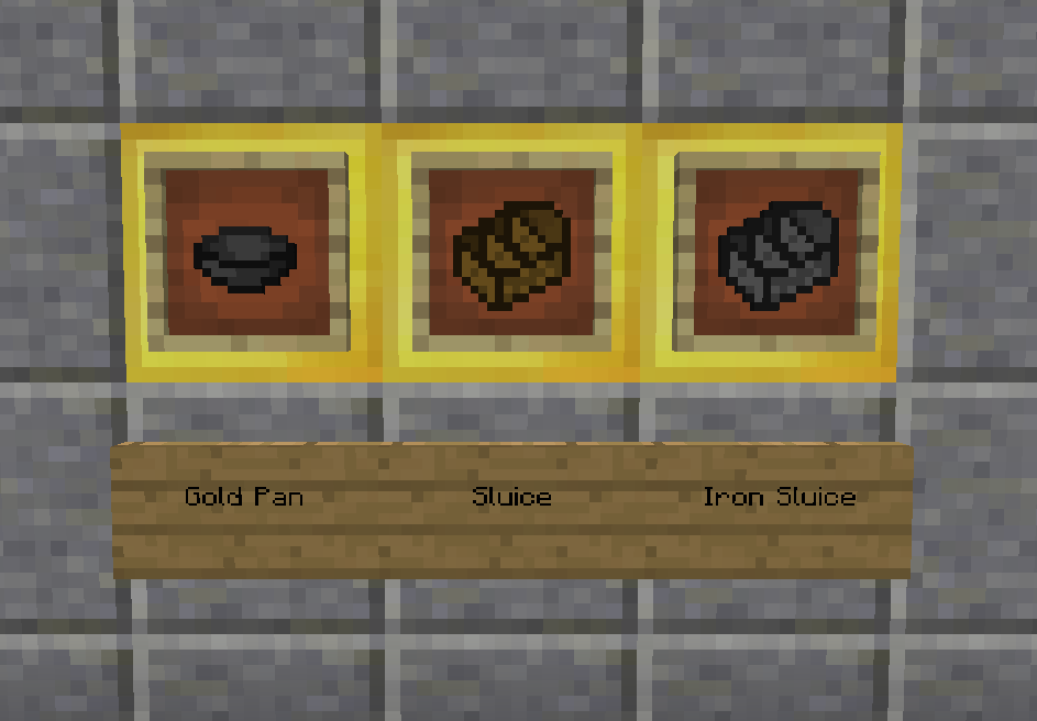 Gold In Them Thar Hills Mod Crafting Recipes 1