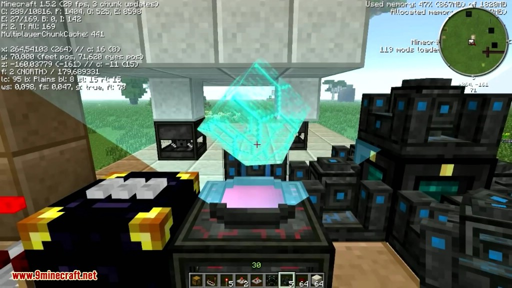 minecraft how to make a crusher modular system